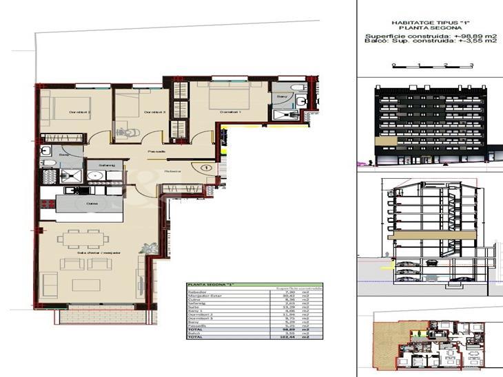Flat for SALE in Andorra la Vella: 102.44 m² - 365000.00