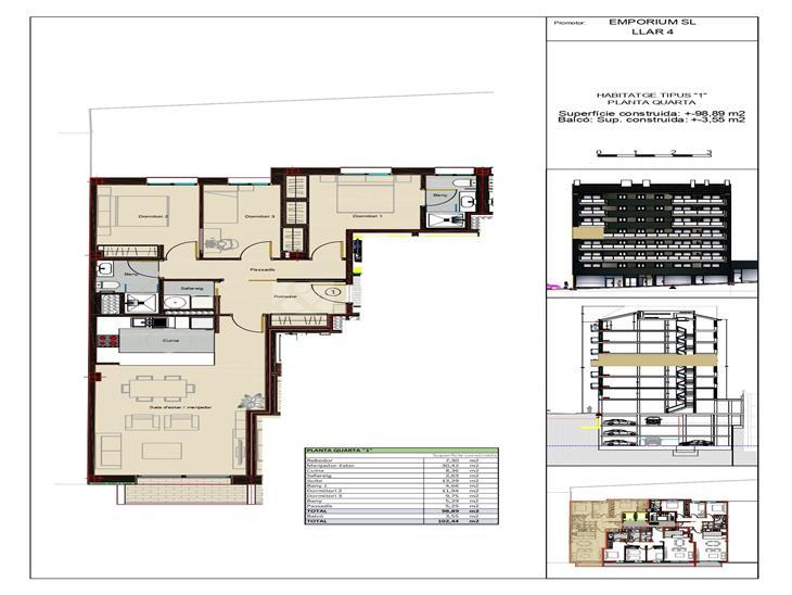 Pis en VENDA a Andorra la Vella: 102,44 m² - 415000,00