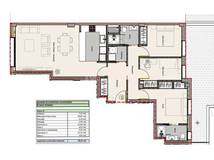 Flat for SALE in Andorra la Vella: 99.28 m² - 353500.00