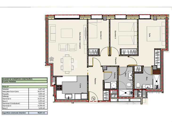 Flat for SALE in Andorra la Vella: 98.00 m² - 365000.00