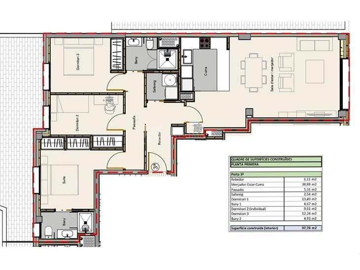 Pis en VENDA a Andorra la Vella: 97,78 m² - 340000,00