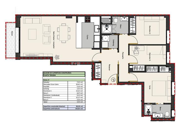 Pis en VENDA a Andorra la Vella: 102,83 m² - 430000,00