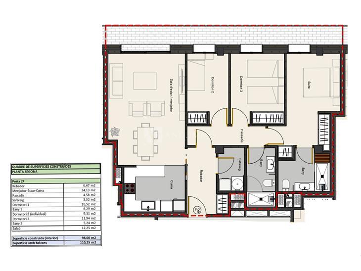 Piso en VENTA en Andorra la Vella: 101,55 m² - 530000,00